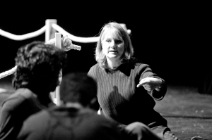 Kristine working with actors at a 'Wuthering Heights' workshop November 2008